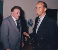 Mario Benedetti y Leopoldo Borras