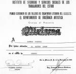 Diploma de Esther Vázquez-Ramos